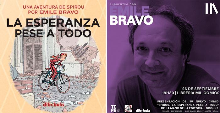 Émile Bravo presenta y firma Spirou en la librería Mil Cómics