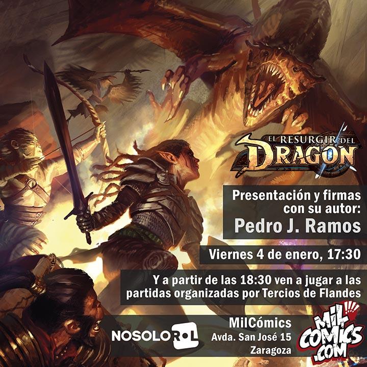 Presentación del juego de rol El resurgir del Dragón en MilCómics