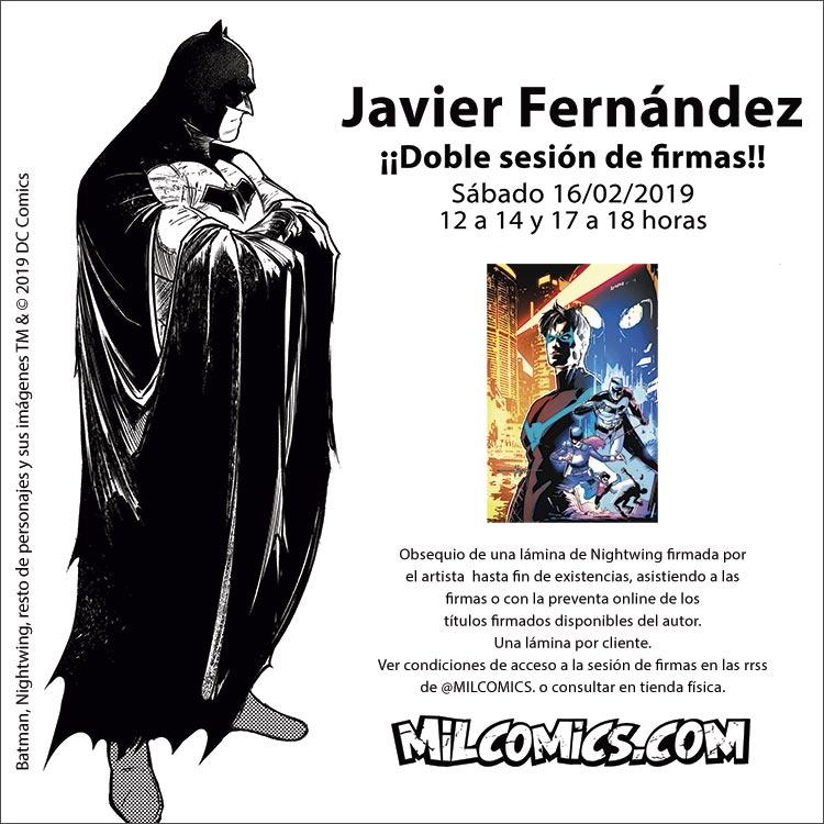 Sesión de firmas. Javier Fernández firma Nightwing y Detective Comics en MilCómics