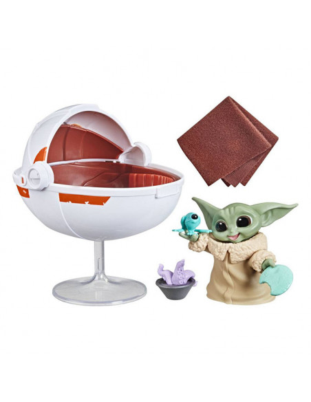 es::Star Wars Mandalorian Bounty Collection Figura Coche flotante de Grogu-0