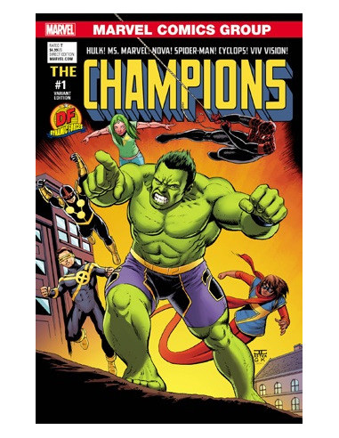 es::DF Champions 1 Now! DF Cassaday Cover Signed by Mark Waid