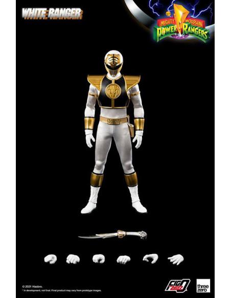 es::Mighty Morphin Power Rangers Figura FigZero 1/6 White Ranger 30 cm