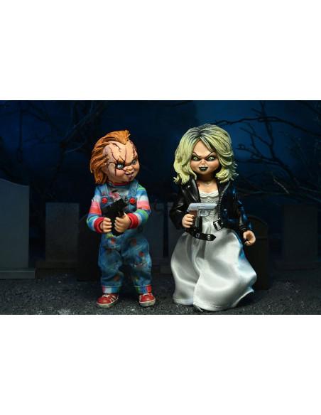 es::La novia de Chucky Pack de 2 Figuras Clothed Chucky & Tiffany 14 cm