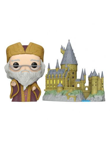 es::Harry Potter Funko POP! Town Dumbledore w/Hogwarts 9 cm