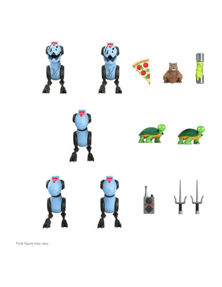 es::Tortugas Ninja PAck de 5 Figuras Ultimates Mousers 8 cm