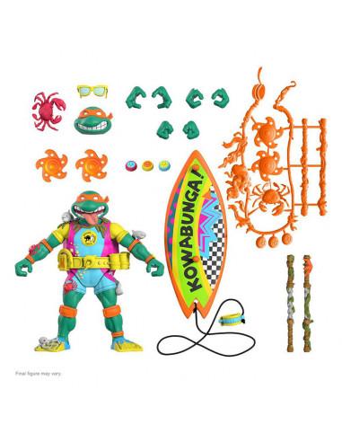 es::Tortugas Ninja Figura Ultimates Sewer Surfer Mike 18 cm