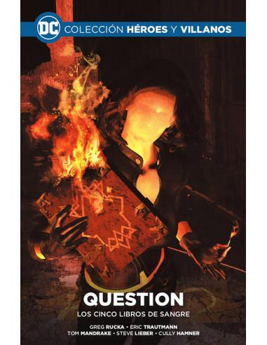 es::Colección Héroes y villanos vol. 18 - Question: Los cinco libros de sangre