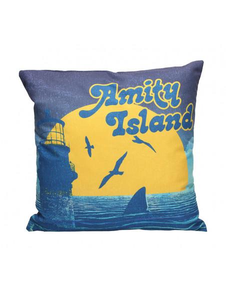 es::Tiburón Cojín cuadrado Amity island