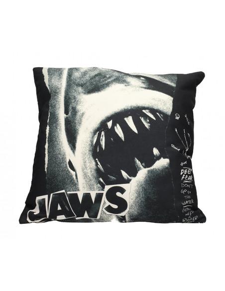 es::Tiburón Cojín cuadrado Collage