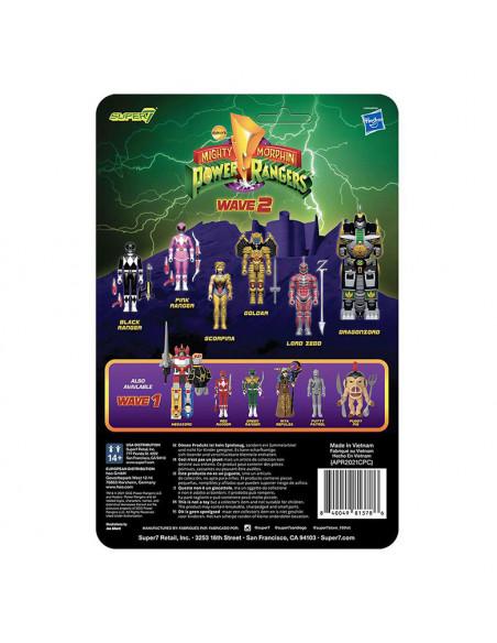 es::Mighty Morphin Power Rangers Figura ReAction Black Ranger 10 cm