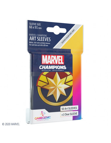 es::Marvel Champions Sleeves Captain Marvel
