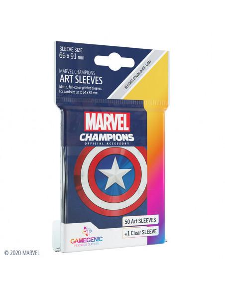 es::Marvel Champions Sleeves Captain America