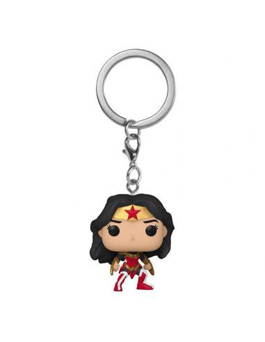 es::Wonder Woman 80th Anniversary Llavero Pocket POP! Vinyl A Twist Of Fate 4 cm