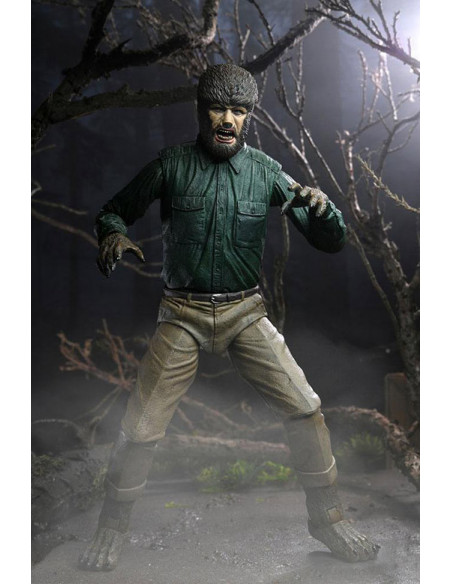 es::Universal Monsters Figura Ultimate The Wolf Man 18 cm